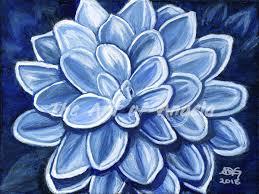 100 Cool Blue Design Dahlia The Art Of Angela