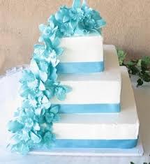 beautiful white and blue wedding cakes 10