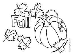 Autumn Coloring Pages With Pumpkin For Kids Seasons And Fall Printable