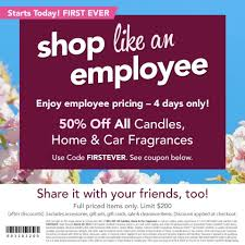 Yankee Candle | 50% Off ALL Candles, Home & Car Fragrances ... Free Walgreens Photo Book Coupon Code Yankee Candle Company Will Not Honor Their Feb 04 2018 Woodwick Candle Pet Hotel Coupons Petsmart Buy 3 Large Jar Candles Get Free Life Inside The Page Coupon Save 2000 Joesnewbalanceoutlet 30 Discount Theatre Red Wing Shoes Promo Big 10 Online Store 2 Get Free Valid On Everything Money Saver Sale Fox2nowcom Kurios Cabinet Of Curiosities Edmton Choice Jan 29 Retail Roundup Ulta Joann Fabrics