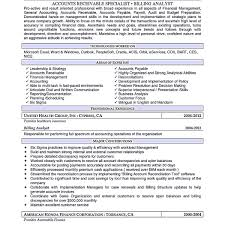 Account Receivable Resume Shows Both Technical Andterpersonal How To