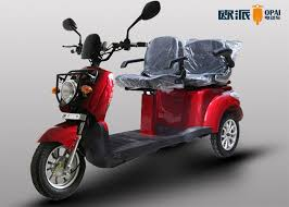 Handicap 3 Wheel Electric Scooter For Adults Two Person Mobility