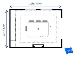 Dining Room Size Rh Houseplanshelper Com Measurements Standard Sizes