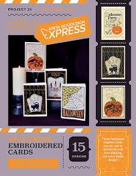 Halloween Express Charlotte Nc by Anita U0027s Express Halloween Embroidered Cards Anita Goodesign