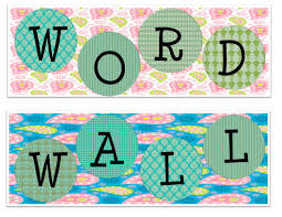 Word Wall Letters The Idea Backpack Monday Made It Part 3 Paisley