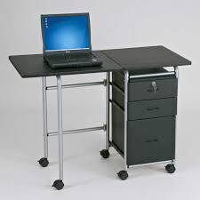 Glass And Metal Computer Desk With Drawers by Seductive Laptop Desk Design With Furniture Black Particle Board
