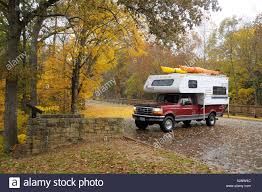 Pickup Truck Camping Camper Fall Colours Colors Forest Mammoth Cave ...