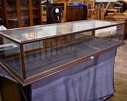 Antique Counter Top Glass Oak Mercantile Display Case