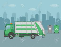 Garbage Truck And Garbage Cans On City Background. Ecology And ... Amazoncom Playmobil Green Recycling Truck Toys Games Adventure Force Light And Sound Toy Vehicle Recycle Medium Action Series Brands Coloring Page Free Printable Coloring Pages A Made From Recycled Materials Orange Garbage Transportation Tipper With Cabin R Is For Alphabet Trucks To Z Pinterest Facts On In Australia That You May Not Know West Bin Idem Lesson Plan Preschoolers Ewaste Its Way A Small Business Pick Up Best Choice Products 116 Scale Friction Powered