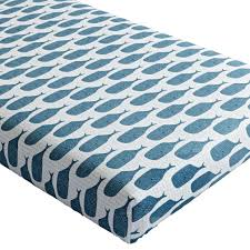 Nautical Crib Bedding by Organic High Seas Whale Crib Fitted Sheet The Land Of Nod