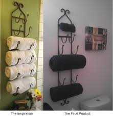 Decorative Towel Ideas For Bathroom Rack Decor Pinterest Ring ... Hanger Storage Paper Bathro Ideas Stainless Towel Electric Hooks 42 Bathroom Hacks Thatll Help You Get Ready Faster Racks Tips Cr Laurence Shower Door Bar Doors Rack Diy Decor For Teens Best Creative Reclaimed Wood Bath Art And Idea Driftwood Rustic Bathroom Decor Beach House Mirrored Made With Dollar Tree Materials Incredible Hand Holder Intended Property Gorgeous Small Warmer Bunnings Target Height Style Combo 15 Holders To Spruce Up Your One Crazy 7 Solutions Towels Toilet Hgtv