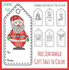 Zentangle Christmas Gift Tags To Color