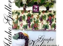 Grape Decor Kitchen Curtains by Chianti Kitchen Tier Curtain Swag Or Valance Decor Walmartcom