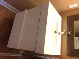 bathroom elegant brown bathroom sink cabinets with opened