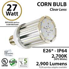 150w led bulb replacement 27 watt corn light 2900lm 2700k ledradiant
