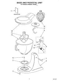 Marvelous Kitchenaid Mixer Parts List 6 Quart Qt