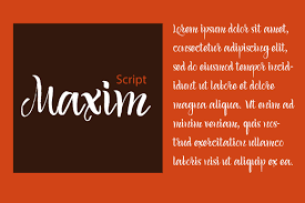 Maxim Is A Beautiful And Rhythmic Script With Easy Cheerful Nature Great For Posters Greeting Cards Wedding Invitations Recipe Menu Design So