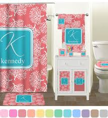 Coral Color Decorating Ideas by Coral And Teal Bathroom Coral Bathroom Accessories Coral U0026 Teal