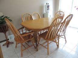 Solid Honey Oak Dining Set For Sale