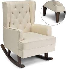 Giantex Nursery Rocking Chair, Modern High Back Fabric Armchair,  Comfortable Relax Rocking Chair, Leisure Chair, Relax Chair Covered W/ 2  Forms Chair ... Modern Rocking Chair Nursery Uk Thenurseries For A Great Fniture For The Benefits Of Having A Rocking Chair In The Nursery Rocker Recliners Ottoman Babyletto Madison Recliner Lumbar Attractive Wooden Wood Foter 9 Mommy Me 3piece Set Includes Matching And Childrens Baby Best Affordable Gliders Chairs Where Innovation Meets Tradition Top Ten Modern Chairs 3rings Details About Glider Living Room Espresso Grey New 10