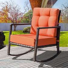Cushioned Rattan Rocker Armchair Outdoor Patio Wicker Rocking Chair With  Cushions (Oranges Cushion) Zerodis Waterproof Fniture Protective Cover Swing Dust Sunscreen Rocking Chair Single Swing Egg For Outdoor Garden Patio Beige Amazoncom Covers All 12 Kailun 210d Oxford Fabric Sonoma Goods Life Presidio Wicker Swivel Asta Rocker Delightful Black Friday Cushions And Pads Sets Set Target Stand Stool Sectionals Cushion And More Clearance Covers Best Choice Products 2person Glider Loveseat W Uvresistant 23 Inspirational Plastic Lawn Galleryeptune Navy Chairs Sofas Sling