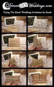 Interactive Tying The Knot DIY Wedding Invitations Or Save Date Cards Perfect For Vintage Rustic Themed Weddings