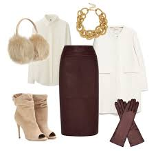 Leather Pencil Skirt Outfit Winter
