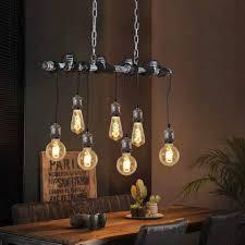 zmh pendelleuchte vintage hängele esszimmer höhenverstellbar 91cm metallrohr industrielle wasserrohr e27 für küche bar restaurant kaufen