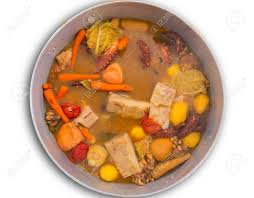 Octopus Stew From Mediterranean Traditional Recipe In Alicante Spain Stock Photo