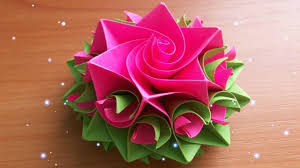 Paper Flowers Rose Diy Tutorial Easy For Childrenorigami Flower Folding 3d Kids