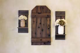 Rustic Barn Door Mini Wood Shutters Wall Decor