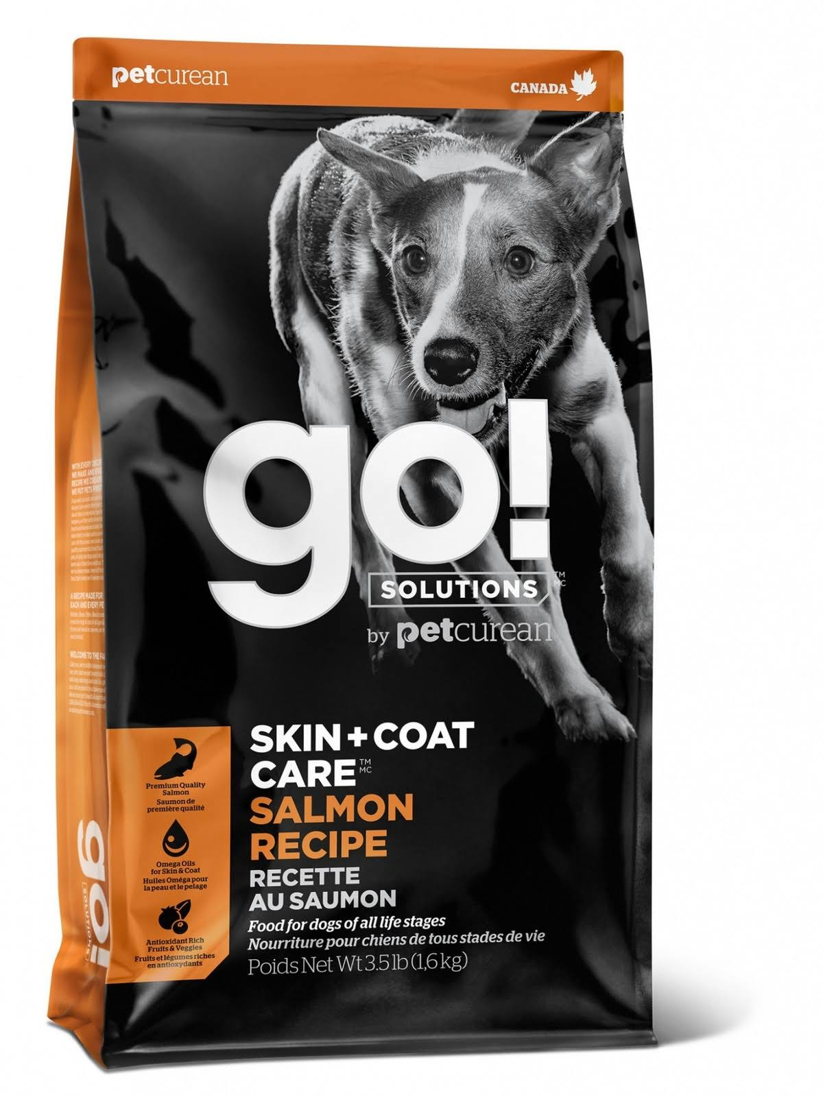 Go! Solutions Skin + Coat Care Salmon Recipe Dry Dog Food, 25 lb