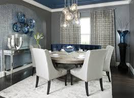 Dining Room Decorating Ideas Van Deusen Blue Gauntlet Gray Paint Color Large Bristol Vase In Cobalt