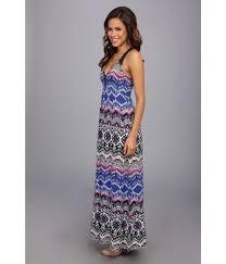 lucky brand tribal print maxi dress lyst