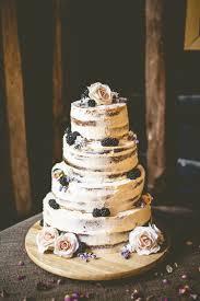 Naked Buttercream Cake Victoria Berries Layer Tower Rustic Bohemian DIY Barn Wedding