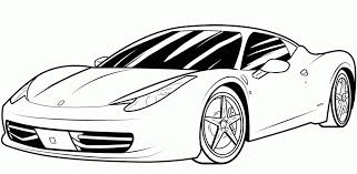 Download Coloring Pages Sports Car Racecar Page For