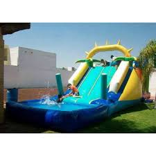 China Customized Giant Inflatable Pool Slide For Adult Outdoor Children Playground Sale
