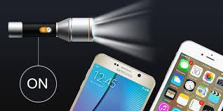 Sudden Darkness Turn Phone Flashlight