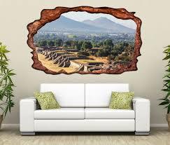 3d wandtattoo teotihuacan ruinenstadt mexiko amerika selbstklebend wandbild wohnzimmer wand aufkleber 11l2351 wandtattoos und leinwandbilder