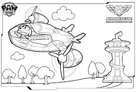 Paw Patrol Printable Coloring Pages Chase Page Collection