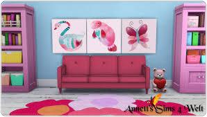 annett s sims 4 welt paintings pink