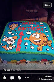 Bubble Guppies Cake Decorating Kit by Buttercream Bubble Guppies Cake Birthdays Pinterest Bubble