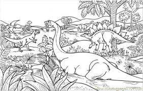 Realistic Jungle Scene Coloring Pages Dinosaur