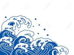 Japanese wave clipart