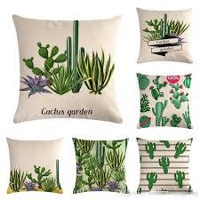 großhandel leinen kissenbezug kaktus baumwolle kissen kissenbezug stuhl sitz home wohnzimmer dekorative kissenbezüge sunflowerxiangyang