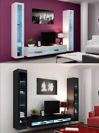 Ebay Uk China Cabinets by High Gloss Living Room Set With Led Lights Tv Stand Wall Mounted