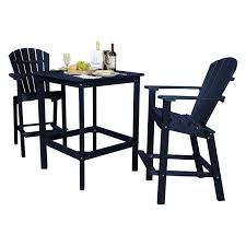 100 Bar Height Table And Chairs Walmart Little Cottage Classic Recycled Plastic 3 Piece Square
