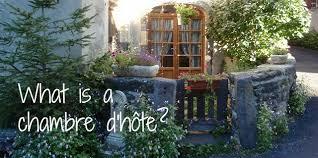 what is a chambre d hôte