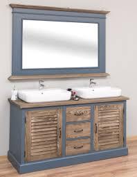 casa padrino landhausstil badezimmer set blau braun 1 doppelwaschtisch 1 wandspiegel landhausstil badezimmer möbel
