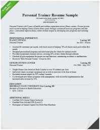 Sample Resume For Gym Instructor Best Beginner Personal Trainer Examples